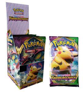Pokemon SWSH4 Schwert & Schild 'Farbenschock' Boosterpack, Menge:1x ganzes Display (18 Stück)