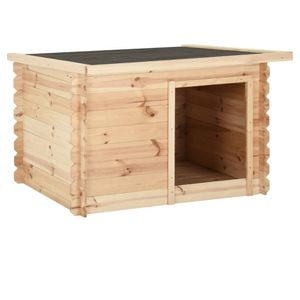 Perfekt® Hundehütte,Outdoor Hundehaus für große Hunde,Platz für ein Hundebett, 120x100x80 cm Massivholz Kiefer 14 mm🍹4125