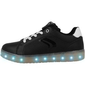 Geox Respira J KOMMODOR B.B BOY Sneakers Schuhe Halbschuhe LED Blinker J745PB Größe:D/F 33, Farbe:Schwarztöne