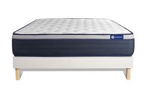 Actiflex max matratze 120 x 190cm + Bettgestell mit lattenrost , Härtegrad 4 , Taschenfederkern und Memory-Schaum , Höhe : 26 c