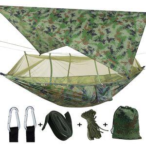 Leichte Outdoor Camping Hängematte mit Moskitonetz & Zeltunterstand für 2 Person