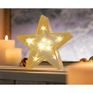 3D-Stern Beleuchtet LED Weihnachtsdeko Weihnachtsstern Adventsstern Deko-Objekt