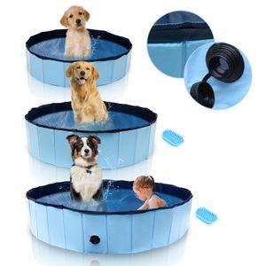 Karpal Hundepool PVC Faltbarer Kinderpool 80/120/160 cm Kleber Schwimmbad Planschbecken