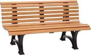 Bank HELGOLAND 3-sitzer von BLOME, Kunststoff in Holzoptik, Gestell braun