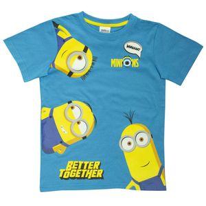 Minions - Better Together T-Shirt für Mädchen PG857 (116) (Königsblau/Gelb)