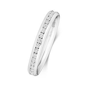 Platin 950 2,7mm Eternity Damen - Diamant Trauring/Ehering/Hochzeitsring Brillant-Schliff 0.46 Karat G - SI1, 51 (16.2); WJS2036PT950
