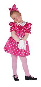 M211018-98 pink Kinder Punktekleid Mauskostüm Gr.98