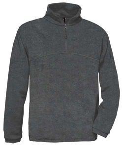 Fleecepullover B&C Highlander Unisex Fleecepullover Pullover Fleece bis 3XL , Größe:XL, Farbe:Charcoal
