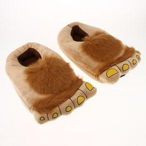 Herren Big Feet Furry Monster Adventure Hausschuhe, Neuheit Hobbit Füße