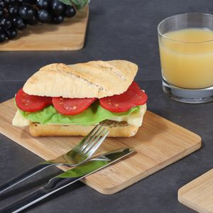 Frühstücksbrett - Schneidebrett- Bambus - 22 x 14 x 0,8cm - 3er Set