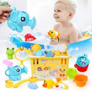 Wasserspielzeuge für Kinder,Badespielzeug-Set, 12-teilig,Duschkopf, Kinder kneifen Ball, Wasserpistole, Kleintiere