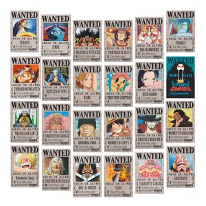 One Piece Wanted Poster Anime Neuauflage, Ruffy 1,5 Milliarden Poster 24-teiliges Set (28,5 x 19,5 cm) -