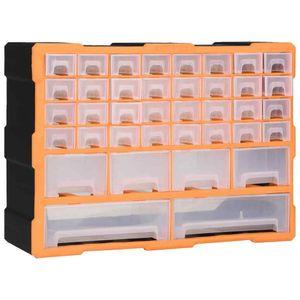 Organizer 40 Schubladen Sortimentskasten Kleinteilemagazin Sortierbox