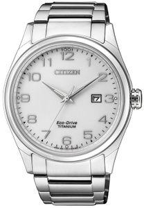 Citizen BM7360-82A Eco-Drive Uhr Herrenuhr Titan Datum Silber