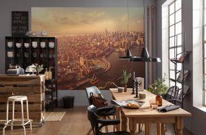 "Komar Fotoapete ""Manhattan"", beige / grau, Skyline, New York, 254 x 184 cm"