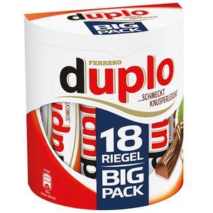 duplo Big Pack 18 Riegel mit Waffel Nugatfüllung und Schokolade 327g