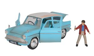 Dickie Toys Harry Potter 1959 Ford Anglia 1:24 Die-cast Spielzeugauto mit zu öffnenden Tören inkl. Harry Potter Fibur, 253185002
