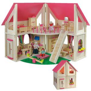howa Puppenhaus 'klappbar' inkl. 21 tlg. Möbelset und 4 Puppen 7013