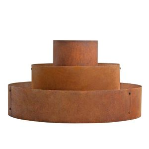 Pflanzpyramide Hochbeet Pflanzring Kräuterspirale Edelrost Rost Ø 30/60/90 cm