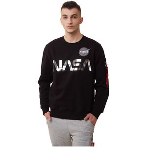 Alpha Industries Sweatshirts NASA Reflective Sweater black/chrome L