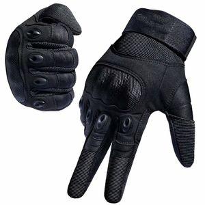 Motorradhandschuhe Herren Sport Handschuhe Vollfinger Taktische Handschuhe mit gepolstertem Rückenseite geeignet für Motorrad Fahrrad, Paintball und andere Outdoor Aktivitäten(L)
