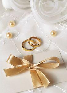 DeCoArt… SET 3 Kleine Umschlagkarte Hochzeit Ringe Rosen Tüll Perlen 8 x 11 cm