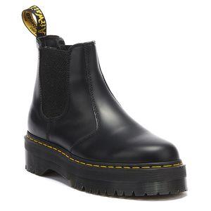Dr. Martens 2976 Quad glatte schwarze Damen Stiefel