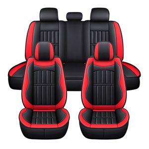 11-teilig Elegant Auto Sitzbezüge Schonbezüge Komfort Komplettset Kunstleder Rot