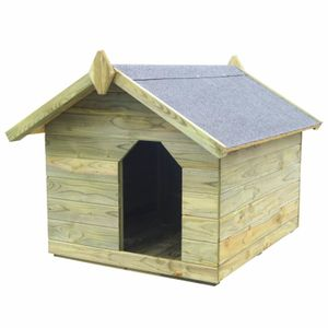 anlund Hundehütte mit Dach Imprägniertes Kiefernholz