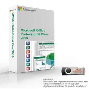 MS Microsoft Office 2019 Professional Plus 1PC Original 64/32-Bit für Windows mit USB Stick
