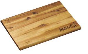 """Kesper Brotzeitbrett mit Einbrand """"Brotzeit"""", rechteckig, 30 x 20 x 1 cm, aus em Akazienholz, Schneidebrett, Präsentationsplatte"""