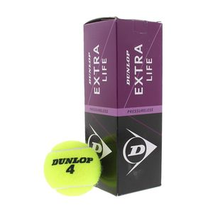Dunlop Extra Life 3er Set Tennisbälle Gelb - Unisex