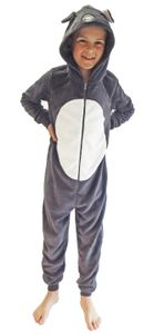 Mädchen Jumpsuit Overall Onesie Schlafanzug in niedlichen Tier Motiven - 291 467 97 606, Farbe:Maus, Größe:176