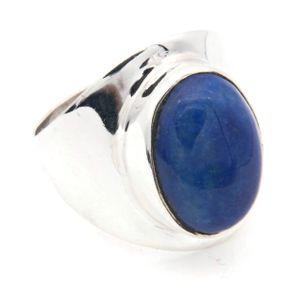 Lapis Lazuli Ring 925 Silber Sterlingsilber Damenring blau (MRI 125-06),  Ringgröße:60 mm / Ø 19.1 mm