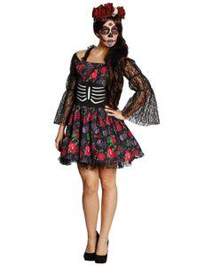 Day of the Dead La Catrina Horror Halloween Karneval Fasching Kostüm 36
