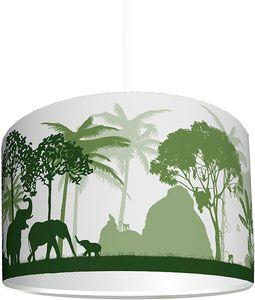 """Kinderzimmer Lampenschirm""""Dschungel grün"""" KL43   kinderleicht eine Dschungel-Lampe erstellen   als Steh- oder Hängeleuchte/Deckenlampe   perfekt für Jungen und Mädchen"""