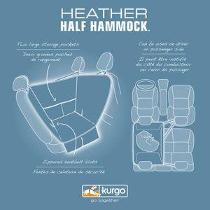 Kurgo - Half Hammock - Heather Grey Default