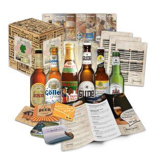 """Bier Spezialitäten aus Deutschland"""" Geschenkidee für Männer INKL. Bierdeckel + Geschenkkarton + Bier-Info. Ausgefallene Geschenkidee für Männer (6x0,33l)"""