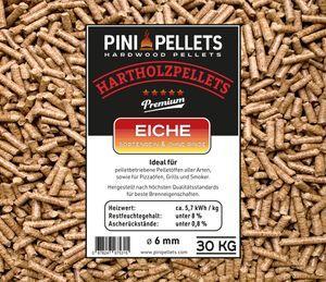 Hartholz Pellets 6 mm PINI 30 Kg zum Heizen Grillen Räuchern Smoken