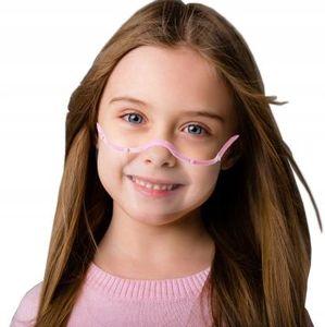Kind Mund Nasen Visier transparent Gesichtsmaske Gesichtsschutz Gesichtsvisier Rosa