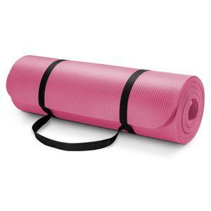 Yogamatte Rosa Fitnessmatte Gymnastikmatte Pilates 183x61x0,6 cm Sportmatte rutschfest Turnmatte für Fitness
