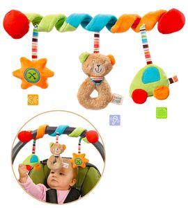 Fehn Activity Spiral Teddy, Mehrfarbig, Baby-Autositz, Junge/Mädchen, Maschinenwäsche, 30 °C, 26 cm