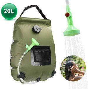 20L tragbare Dusche Heizungsrohr Tasche Solarwarmwasserbereiter Outdoor Camping Camp