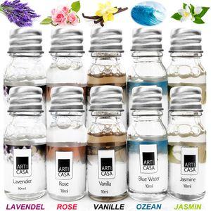 10x10ml Duftöl Raumduft Lavendel - Ocean - Jasmin - Rose - Vanille