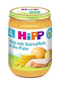 HiPP Menüs nach dem 4.Monat, Mais mit Kartoffeln undPute, DE-ÖKO-037 - VE 190g