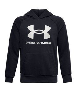 Under Armour Ua Rival Fleece Hoodie - black /  / onyx white, Größe:XL