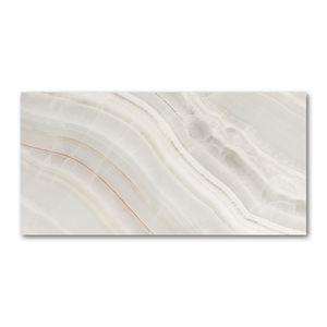 Tulup® Glas-Bild - 100x50 -Wandkunst - Wandbild hinter gehärtetem Sicherheitsglas  - Kunst: modern & klassisch - Marmor Textur - Beige