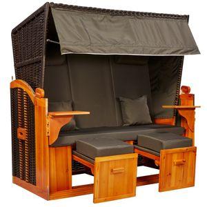 intergrill Strandschönheiten Claudia Ostsee XXL Strandkorb 2,5-Sitzer verschiedene Nachbildung inkl Hülle