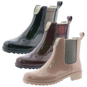 Rieker Damen Gummistiefel Warmfutter Chelsea Boots P8280, Größe:39 EU, Farbe:Rot
