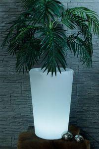 LED Blumentopf 60 cm beleuchtet mit Fernbedienung Gartenlampe Blumenkübel